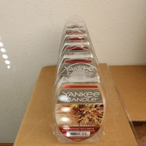 Lot of 6 Yankee Candle Autumn Wreath Wax Melts